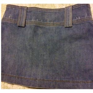 Juicy Couture Skirts - Juicy Couture Vintage Denim Pleated Mini Skirt